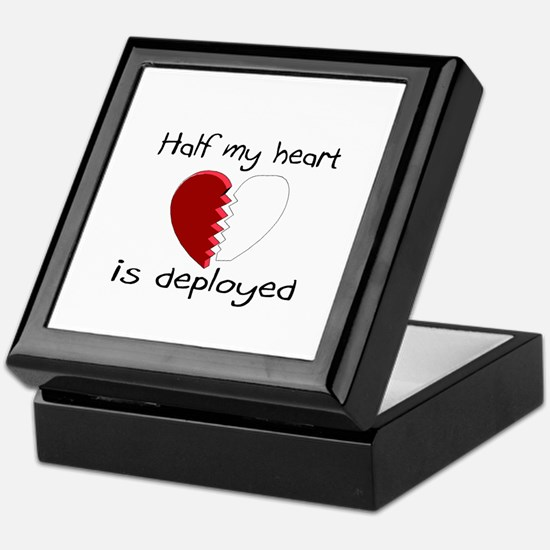 Half My Heart Is Deployed Keepsake Box