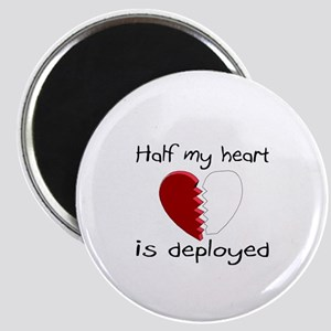 Half My Heart Is Deployed Magnet