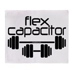 Bodybuilding Flex Capacitor Throw Blanket