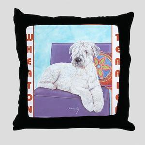 Wheaton Terrier Throw Pillow