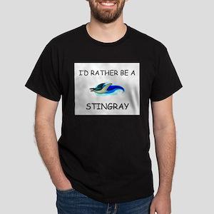 I'd Rather Be A Stingray Dark T-Shirt