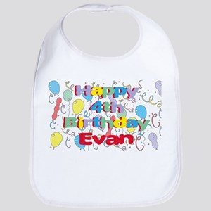 Evan's 4th Birthday Bib