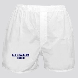 Proud to be Greco Boxer Shorts