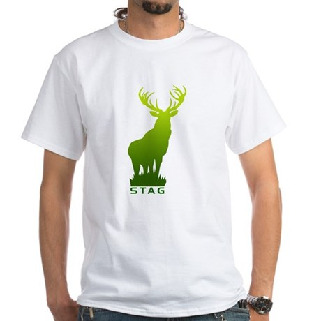 White T-Shirt DEER STAG GRAPHIC
