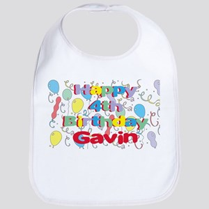 Gavin's 4th Birthday Bib