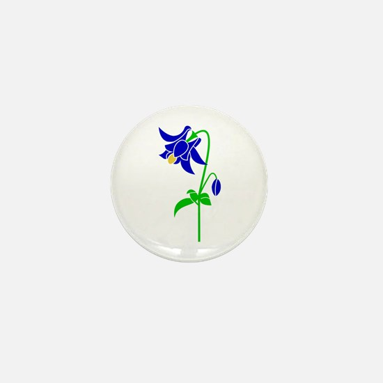 Cool Columbine Mini Button