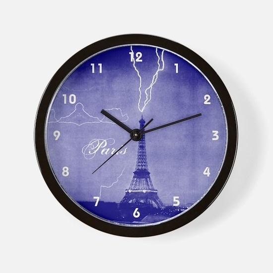 Paris Vintage Photo Wall Clock