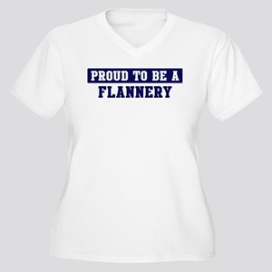Proud to be Flannery Women's Plus Size V-Neck T-Sh