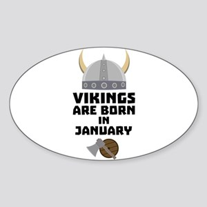 Vikings are born in January C6a7p Sticker