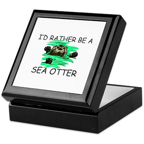 I'd Rather Be A Sea Otter Keepsake Box