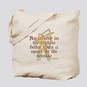 Arrow vs. Spear Tote Bag