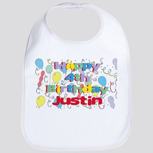 Justin's 4th Birthday Bib