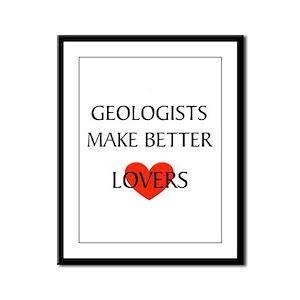 Geologist Framed Panel Print