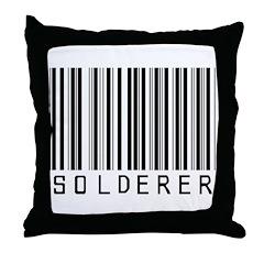Solderer Barcode Throw Pillow