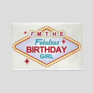 Las Vegas Birthday Girl Rectangle Magnet