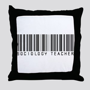 Sociology Teacher Barcode Throw Pillow