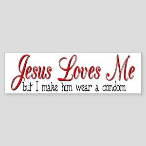 Jesus Loves Me Bumper Sticker