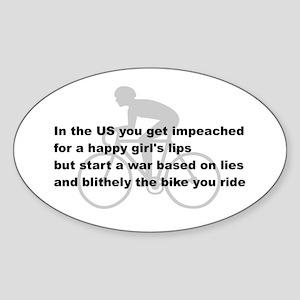 Impeach the cyclist Oval Sticker
