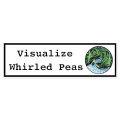 Visualize Whirled Peas Sticker (Bumper 50 pk)