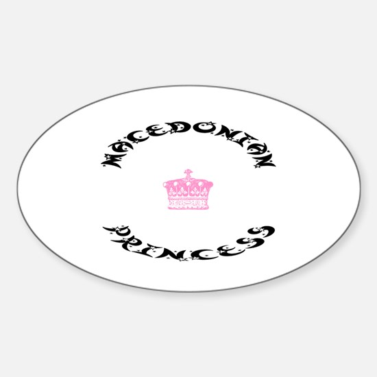 Macedonian Princess Oval Decal