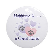 Happiness is...a Great Dane Keepsake (Round)