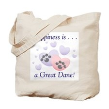 Happiness is...a Great Dane Tote Bag