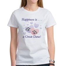 Happiness is...a Great Dane Women's T-Shirt