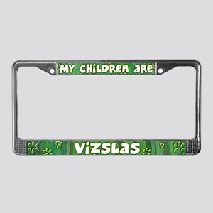 My Children Vizsla License Plate Frame