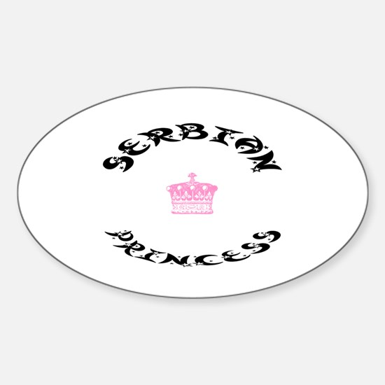 Serbian Princess Oval Decal