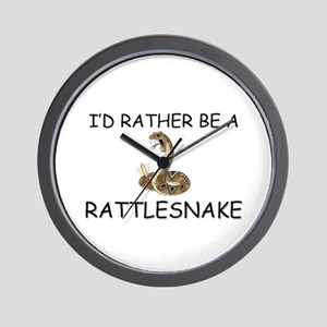 I'd Rather Be A Rattlesnake Wall Clock
