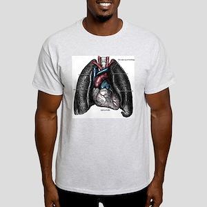 Heart & Lungs Ash Grey T-Shirt