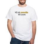 Talking Snowmobiles White T-Shirt
