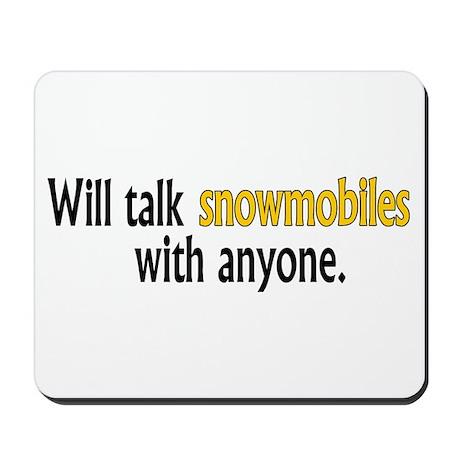 Talking Snowmobiles Mousepad