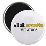 Talking Snowmobiles Magnet