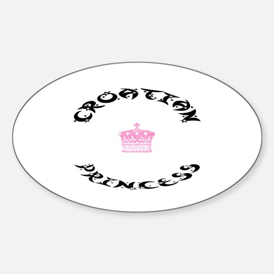 Croatian Princess Oval Decal