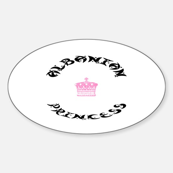 Albanian Princess Oval Decal
