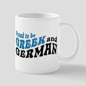 Proud Greek and German Mug