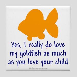 Love goldfish...child. Tile Coaster