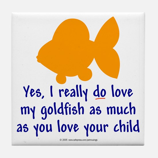 Love goldfish...child. Tile Coaster
