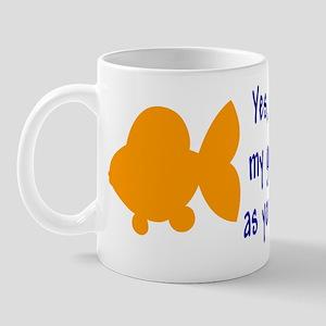 Love goldfish...child. Mug