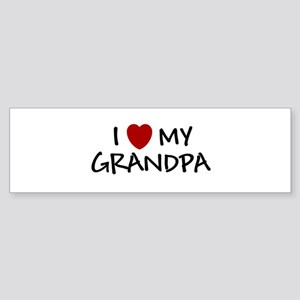 I LOVE MY GRANDPA SHIRT BABY Bumper Sticker