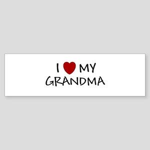 I LOVE MY GRANDMA SHIRT I HEA Bumper Sticker