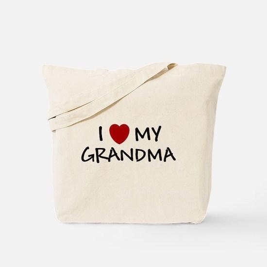 I LOVE MY GRANDMA SHIRT I HEA Tote Bag