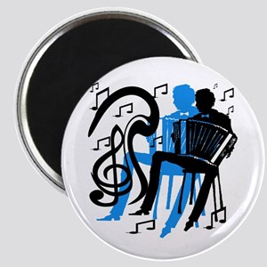 Accordion Player Magnet
