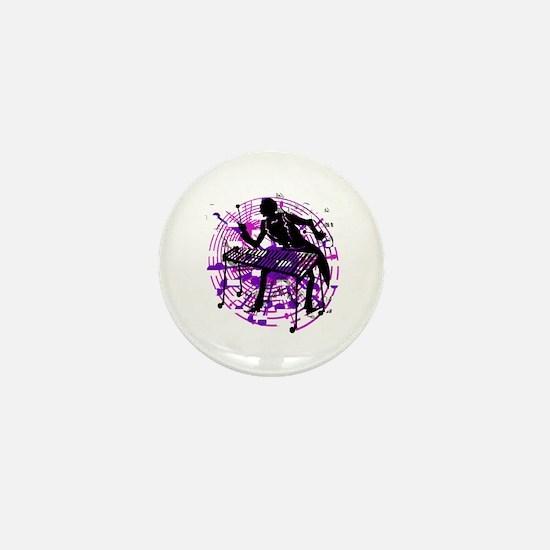Accordion Player Mini Button