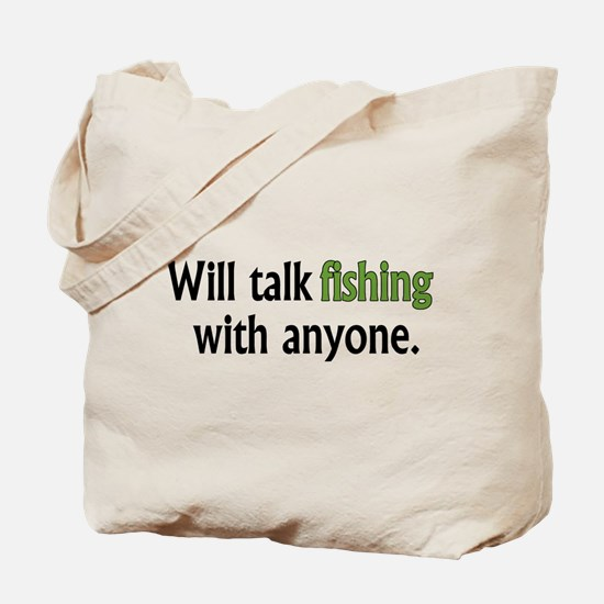 Fishing Talk Tote Bag