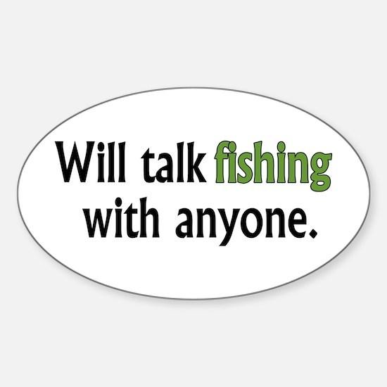 Fishing Talk Oval Decal