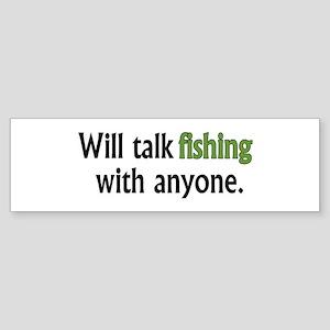 Fishing Talk Bumper Sticker