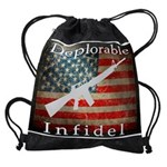 Deplorable Infidel Drawstring Bag