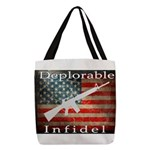 Deplorable Infidel Polyester Tote Bag